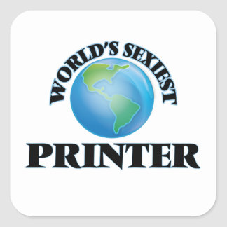 World's Sexiest Printer Stickers