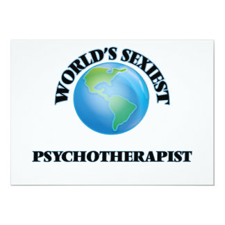 World's Sexiest Psychotherapist 5x7 Paper Invitation Card