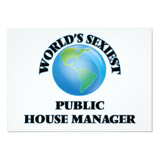 """World's Sexiest Public House Manager 5"""" X 7"""" Invitation Card"""