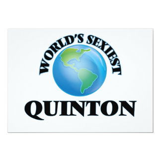 World's Sexiest Quinton 5x7 Paper Invitation Card