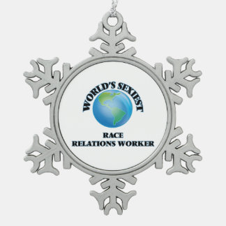 World's Sexiest Race Relations Worker Ornament