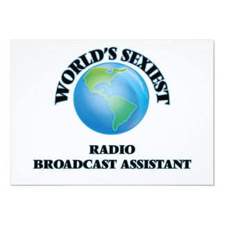 World's Sexiest Radio Broadcast Assistant 5x7 Paper Invitation Card