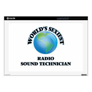 "World's Sexiest Radio Sound Technician 17"" Laptop Decal"