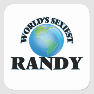 World's Sexiest Randy Square Stickers