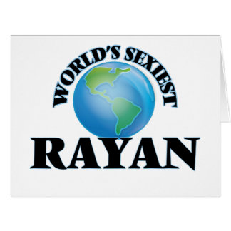 World's Sexiest Rayan Large Greeting Card