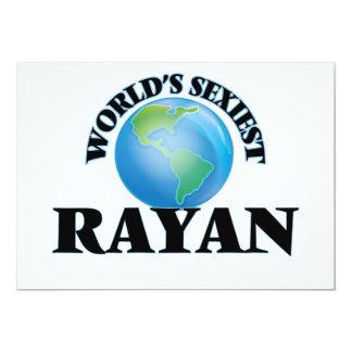 World's Sexiest Rayan 5x7 Paper Invitation Card