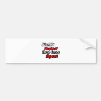 World's Sexiest Real Estate Agent Car Bumper Sticker