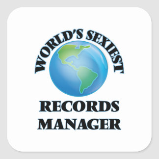 World's Sexiest Records Manager Square Sticker