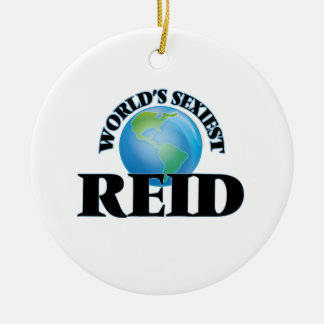 World's Sexiest Reid Double-Sided Ceramic Round Christmas Ornament