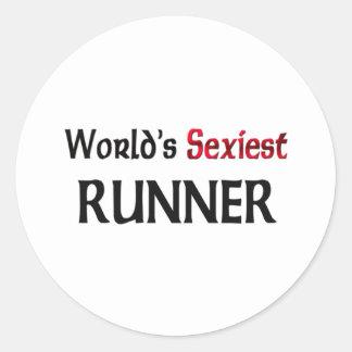 World's Sexiest Runner Stickers
