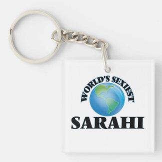 World's Sexiest Sarahi Single-Sided Square Acrylic Keychain