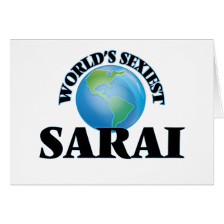 World's Sexiest Sarai Stationery Note Card