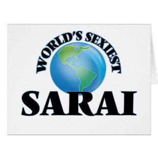 World's Sexiest Sarai Large Greeting Card