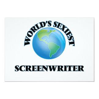 """World's Sexiest Screenwriter 5"""" X 7"""" Invitation Card"""