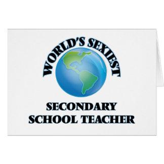 World's Sexiest Secondary School Teacher Cards
