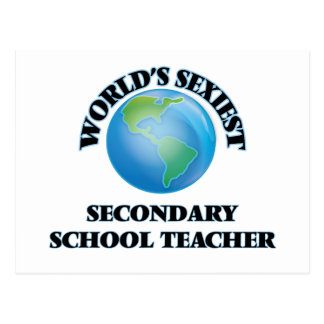World's Sexiest Secondary School Teacher Postcard