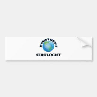 World's Sexiest Serologist Car Bumper Sticker