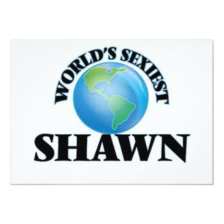 """World's Sexiest Shawn 5"""" X 7"""" Invitation Card"""