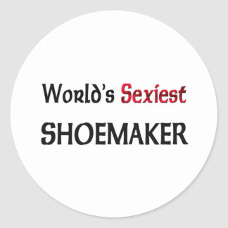 World's Sexiest Shoemaker Classic Round Sticker