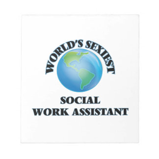 World's Sexiest Social Work Assistant Memo Notepads