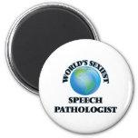 World's Sexiest Speech Pathologist 2 Inch Round Magnet