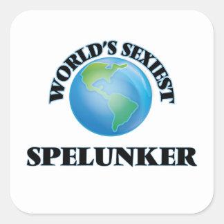 World's Sexiest Spelunker Square Sticker