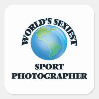 World's Sexiest Sport Photographer Square Sticker