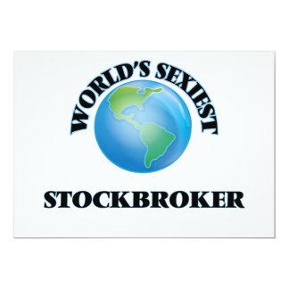World's Sexiest Stockbroker 5x7 Paper Invitation Card