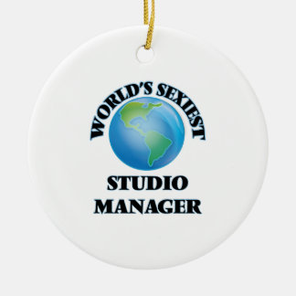 World's Sexiest Studio Manager Christmas Ornament