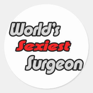 World's Sexiest Surgeon Classic Round Sticker