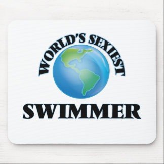 World's Sexiest Swimmer Mouse Pads