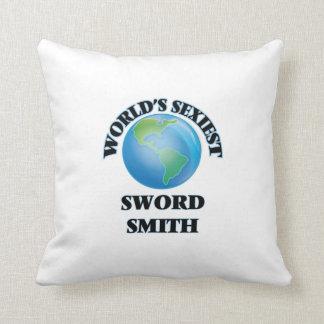 World's Sexiest Sword Smith Throw Pillows