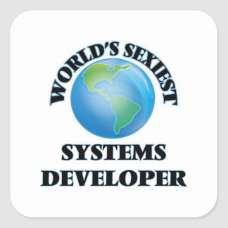 World's Sexiest Systems Developer Square Sticker