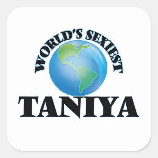 World's Sexiest Taniya Square Stickers
