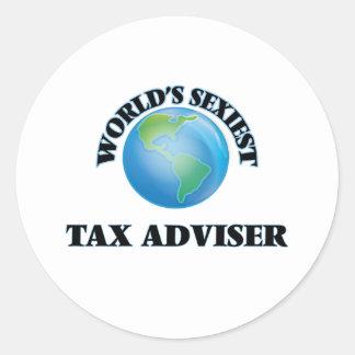 World's Sexiest Tax Adviser Round Sticker