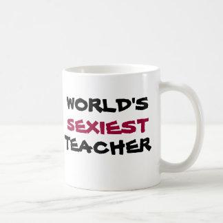 WORLD'S SEXIEST TEACHER, coffee cup Basic White Mug