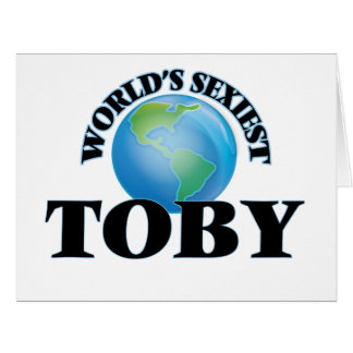 World's Sexiest Toby Large Greeting Card