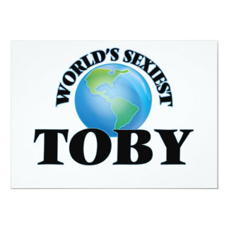 World's Sexiest Toby 5x7 Paper Invitation Card