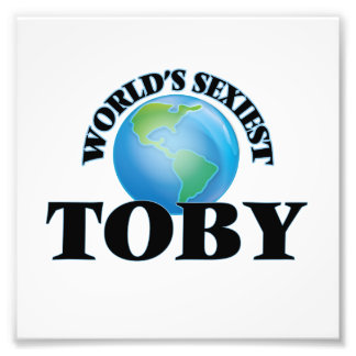 World's Sexiest Toby Photographic Print