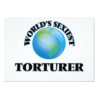 World's Sexiest Torturer 5x7 Paper Invitation Card