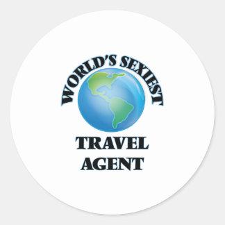 World's Sexiest Travel Agent Round Stickers