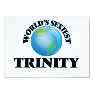 World's Sexiest Trinity 5x7 Paper Invitation Card