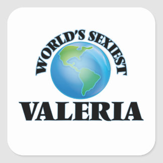 World's Sexiest Valeria Square Sticker