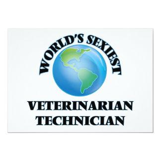 World's Sexiest Veterinarian Technician 5x7 Paper Invitation Card
