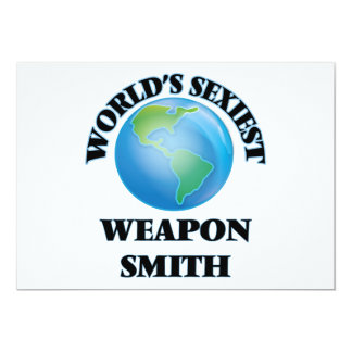 World's Sexiest Weapon Smith Personalized Invite