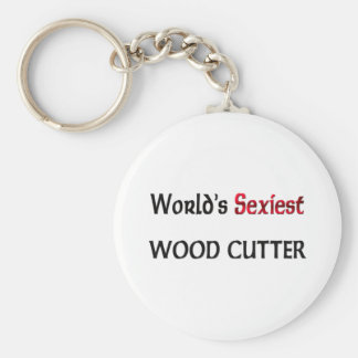 World's Sexiest Wood Cutter Keychain
