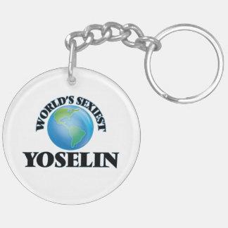 World's Sexiest Yoselin Double-Sided Round Acrylic Keychain