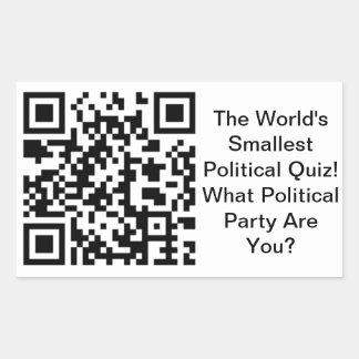 Worlds Smallest Political Quiz Stickers