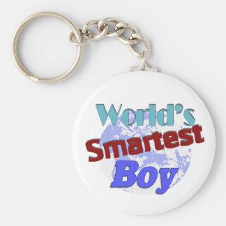 World's Smartest Boy Basic Round Button Keychain
