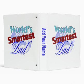Worlds Smartest Dad 3 Ring Binders